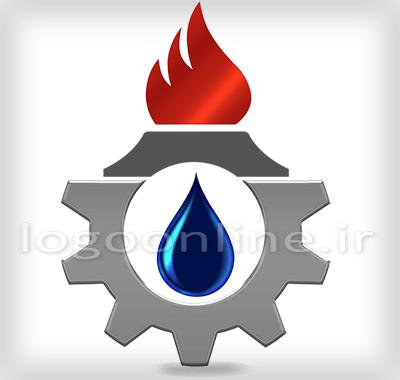 لوگوی شرکت ساختمانی با رنگ بندی سیاه و سفیدطراحی لوگو شرکت نفت و پتروشیمی لیان فرزان بوشهر