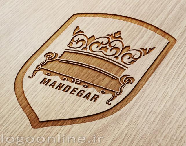 طراحی لوگو کارگاه مبل ماندگارلوگو مبل و محصولات چوبی مبلمان