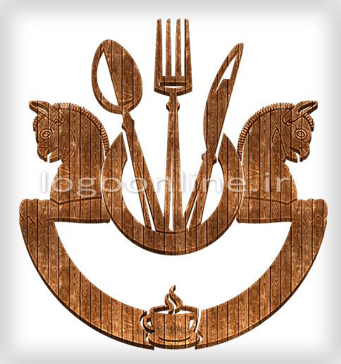 طراحی لوگو رستوران و کافی شاپ کورشطراحی آرم و لوگو کافه رستوران سنتی کورش