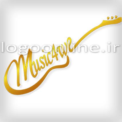 طراحی لوگو حرفه ای سایت موزیک Music4weطراحی لوگو حرفه ای سایت موزیک